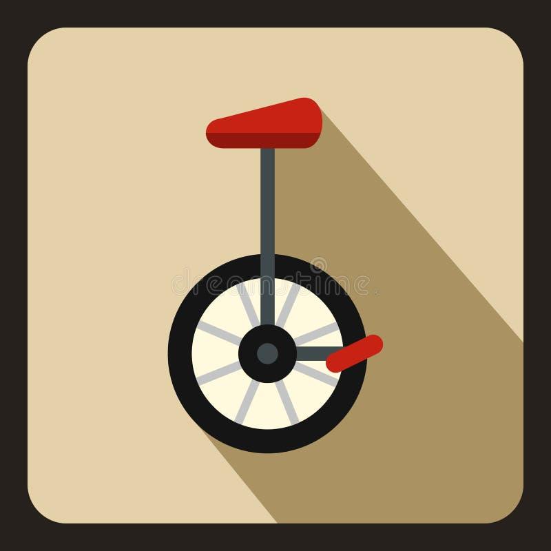 Ícone do Unicycle no estilo liso ilustração do vetor