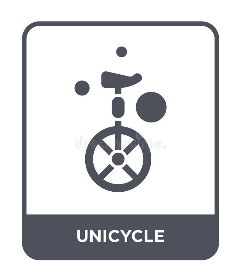 ícone do unicycle no estilo na moda do projeto ícone do unicycle isolado no fundo branco plano simples e moderno do ícone do veto ilustração royalty free