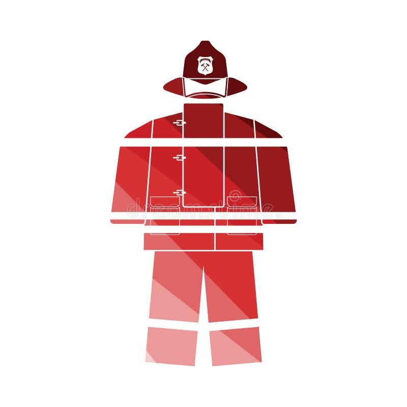 ?cone do uniforme de corpo de bombeiros ilustração do vetor