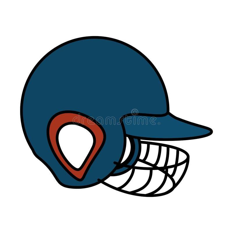 Ícone do uniforme do equipamento do capacete do basebol ilustração stock