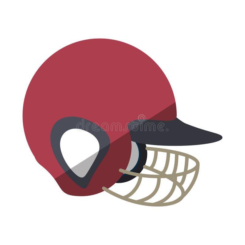 Ícone do uniforme do equipamento do capacete do basebol ilustração do vetor