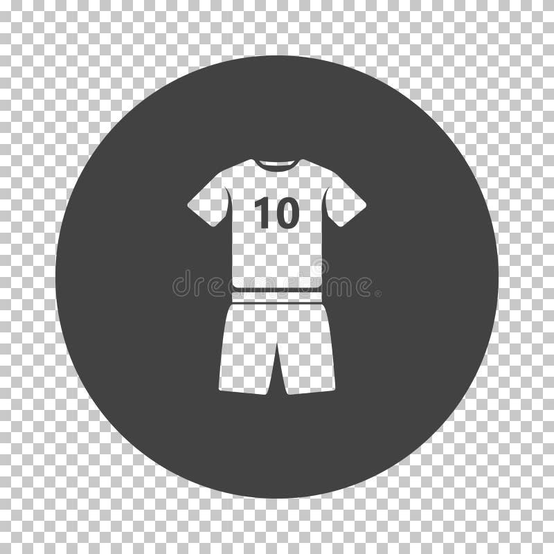 Ícone do uniforme do futebol ilustração royalty free