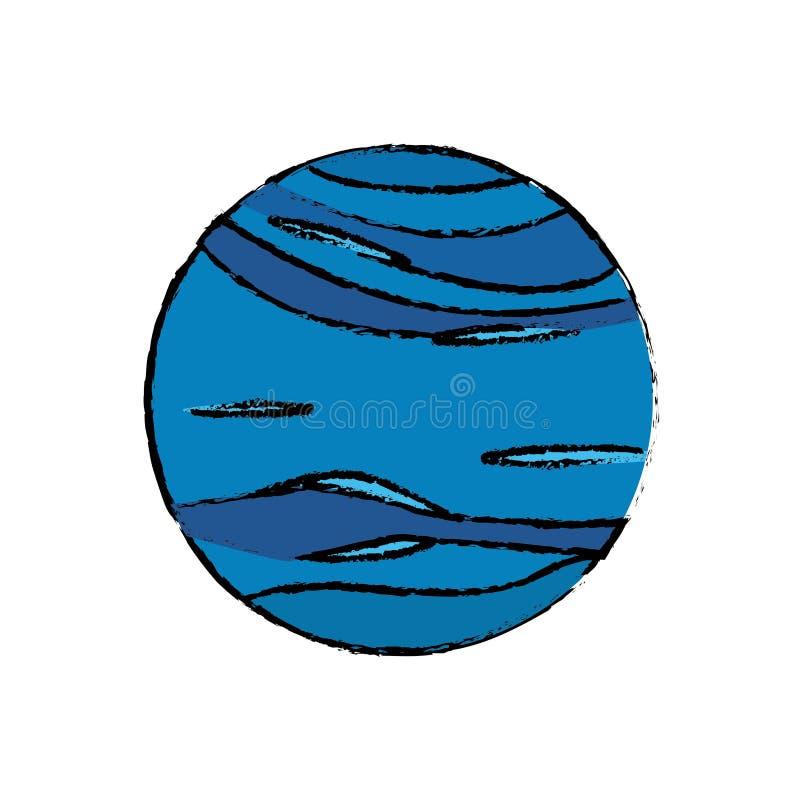 ícone do universo da astronomia de Netuno do planeta ilustração royalty free