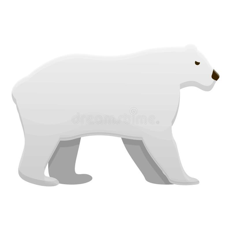 Ícone do urso polar, estilo dos desenhos animados ilustração do vetor
