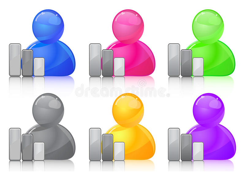 Ícone do usuário com gráfico ilustração stock