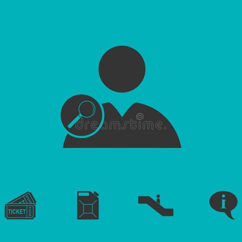 Ícone do usuário da busca horizontalmente ilustração royalty free