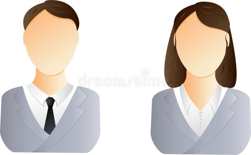 Ícone do usuário do homem e da mulher ilustração do vetor