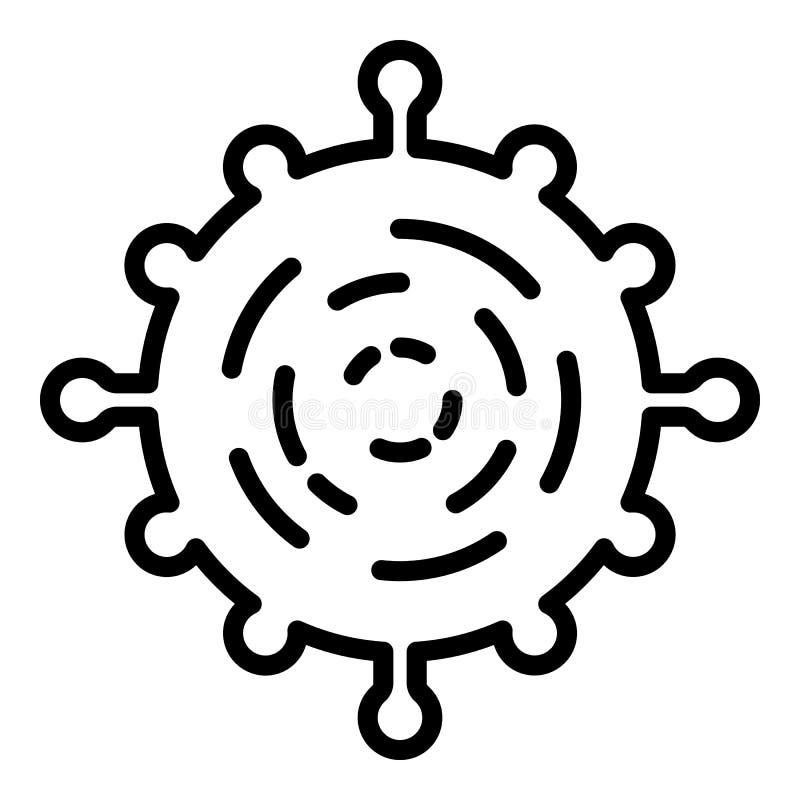 Ícone do vírus adenoide, estilo do esboço ilustração stock
