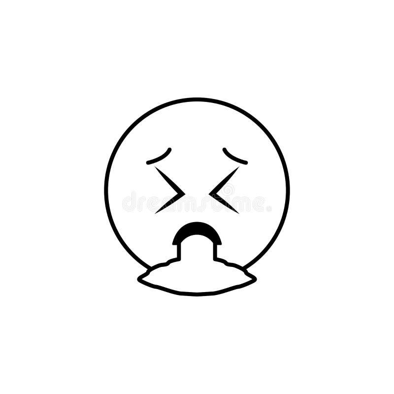 ícone do vômito Grupo detalhado de avatars de ícones das profissões Linha superior projeto gráfico da qualidade Um dos ícones da  ilustração do vetor