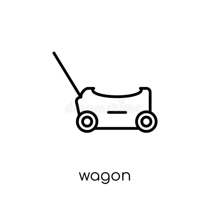 Ícone do vagão da coleção ilustração stock