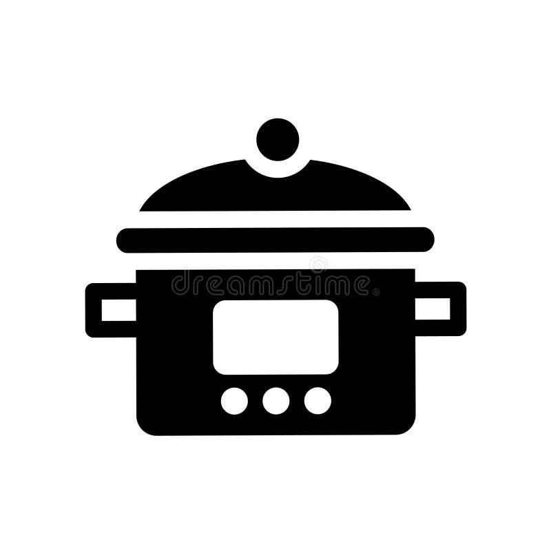 ícone do vasilha de barro-potenciômetro  ilustração stock