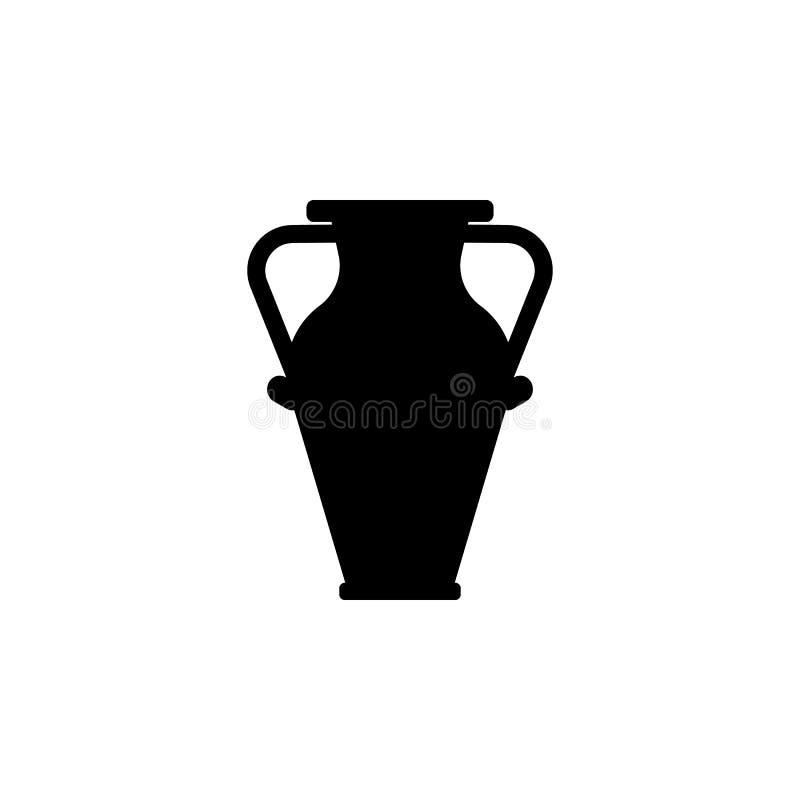 Ícone do vaso Elemento da ilustração do teatro e da arte Ícone superior do projeto gráfico da qualidade Sinais e ícone da coleção ilustração do vetor