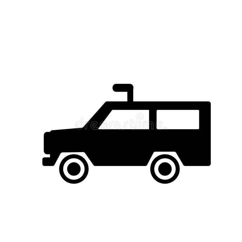 Ícone do veículo blindado  ilustração do vetor