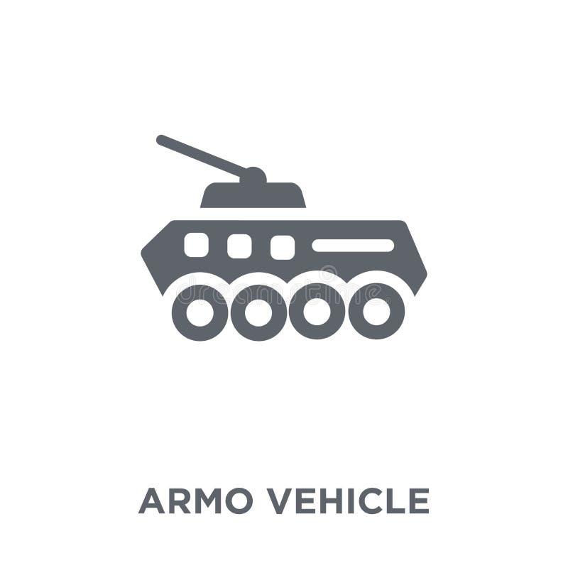 Ícone do veículo blindado da coleção do exército ilustração do vetor