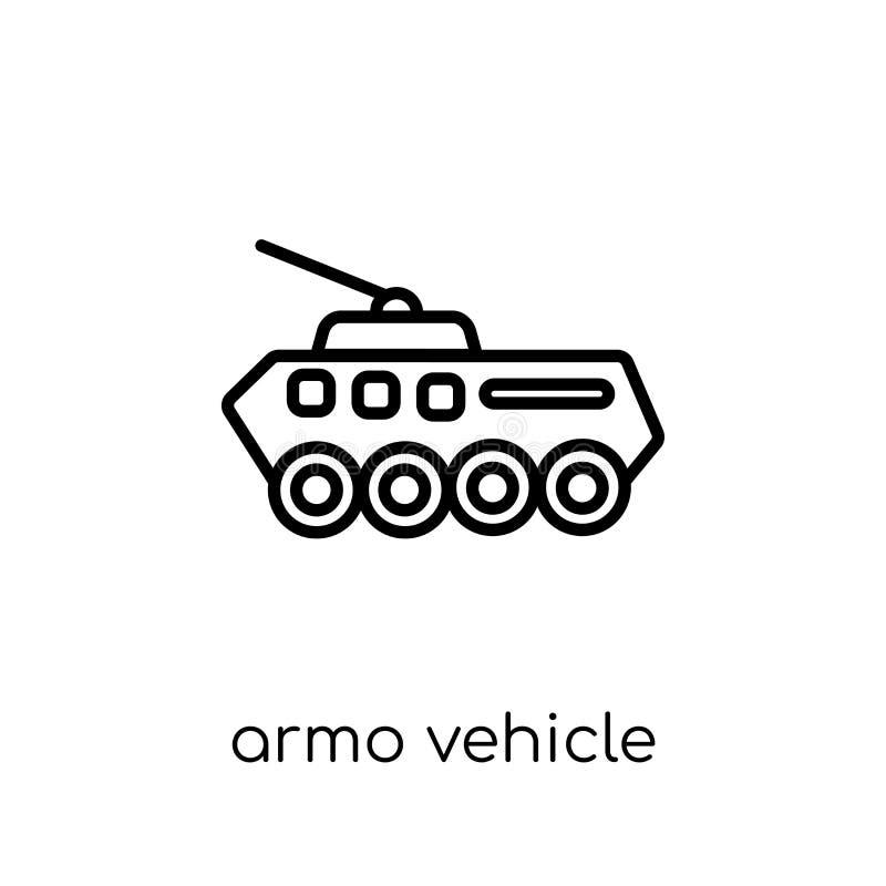 Ícone do veículo blindado da coleção do exército ilustração stock