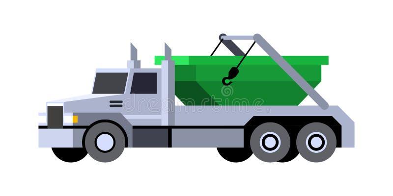 Ícone do veículo do caminhão do lugre ilustração stock