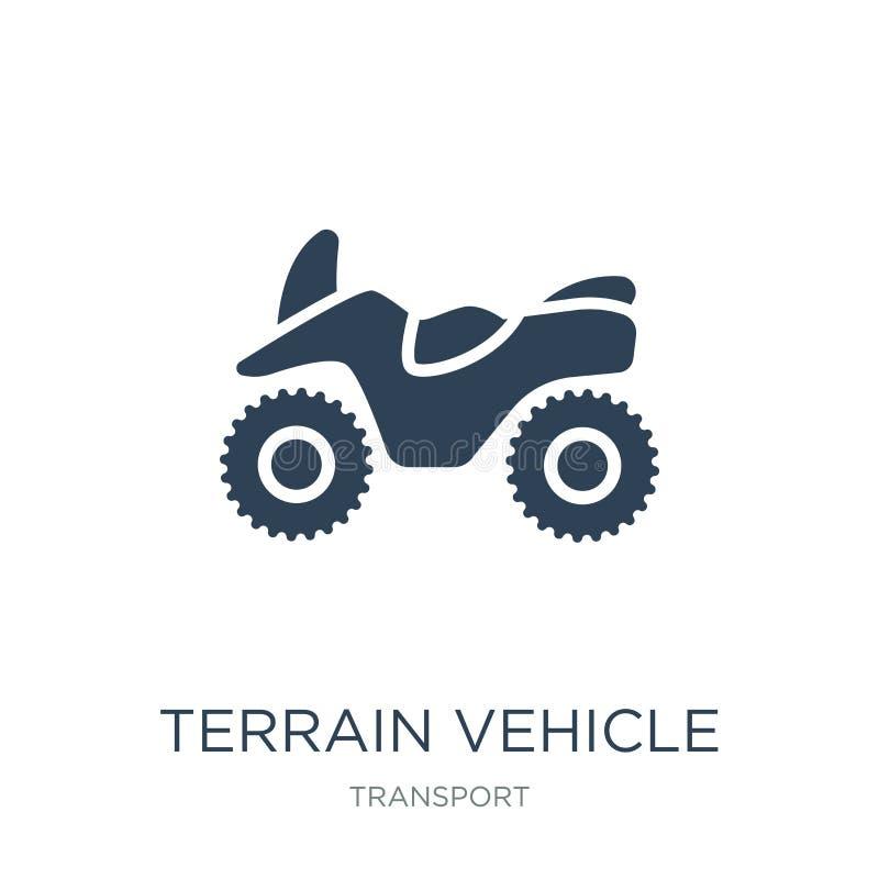 ícone do veículo do terreno no estilo na moda do projeto ícone do veículo do terreno isolado no fundo branco ícone do vetor do ve ilustração do vetor