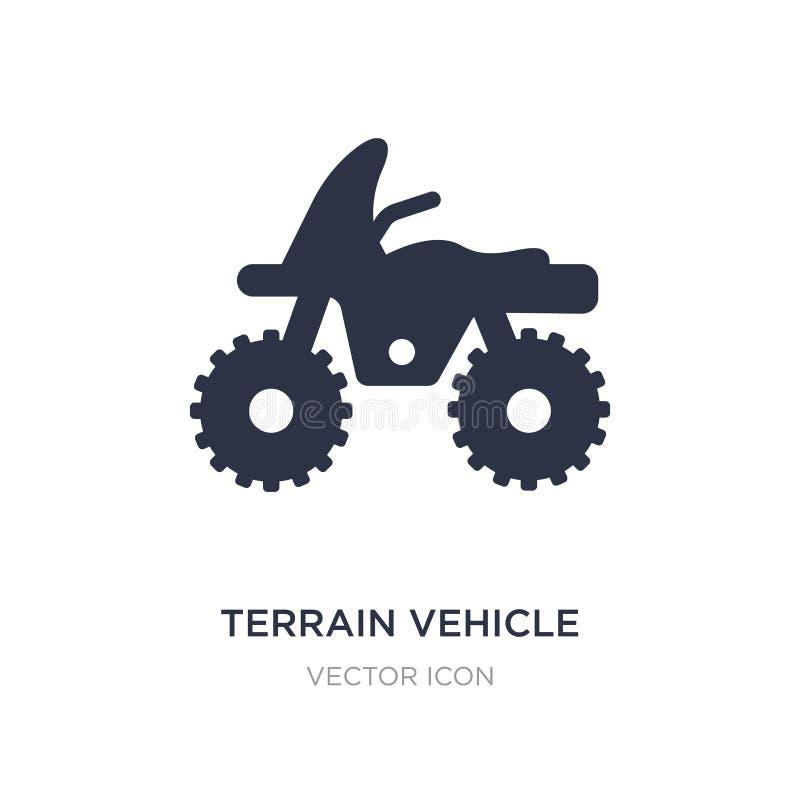 ícone do veículo do terreno no fundo branco Ilustração simples do elemento do conceito do transporte ilustração stock