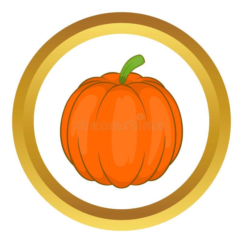 Ícone do vegetal da abóbora de outono ilustração royalty free