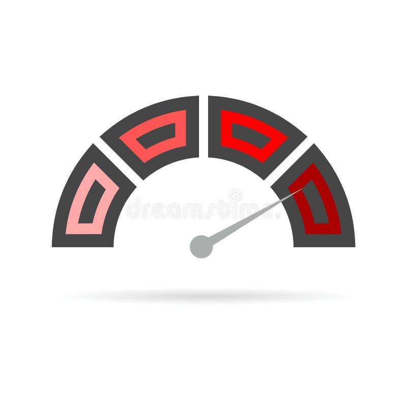 Ícone do velocímetro ilustração stock