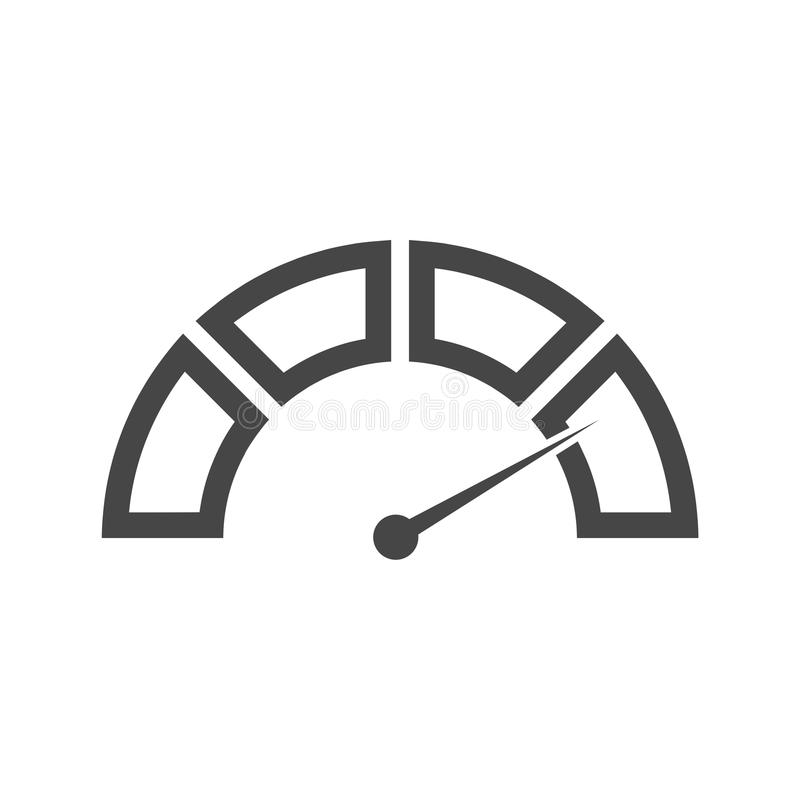Ícone do velocímetro ilustração do vetor