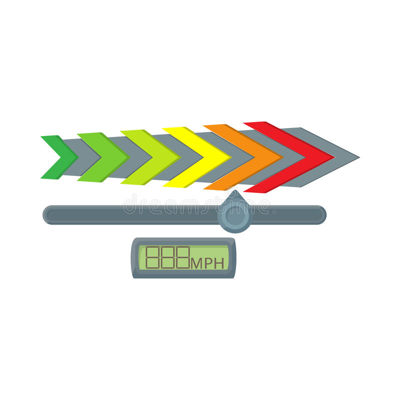 Ícone do velocímetro do calibre, estilo dos desenhos animados ilustração royalty free