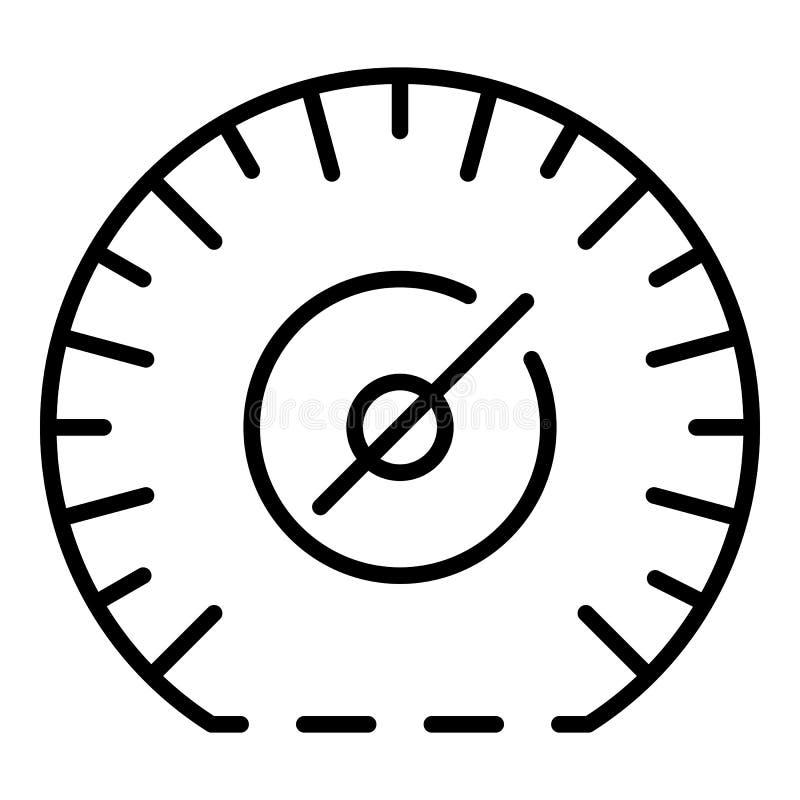 Ícone do velocímetro do quilômetro por hora, estilo do esboço ilustração royalty free