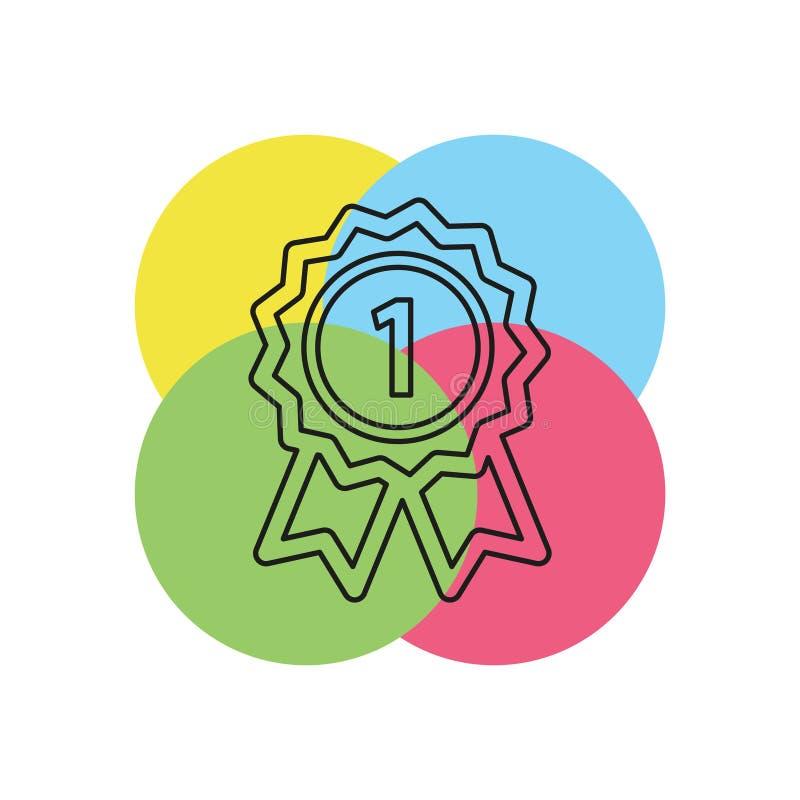 Ícone do vencedor - prêmio do ouro - prêmio do vetor ilustração royalty free