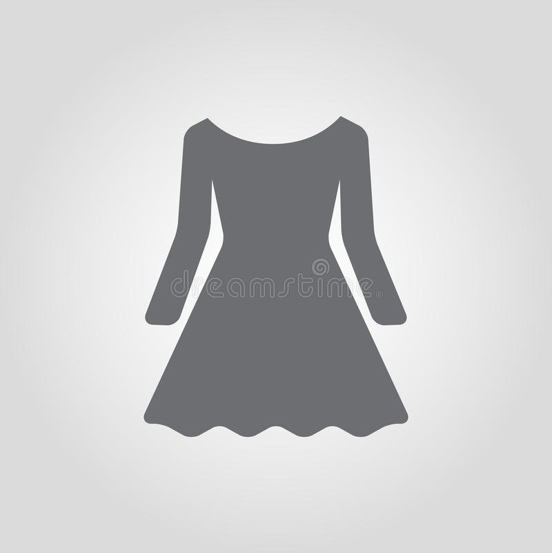 Ícone do vestido Ícone clássico do vestido do alargamento ilustração do vetor