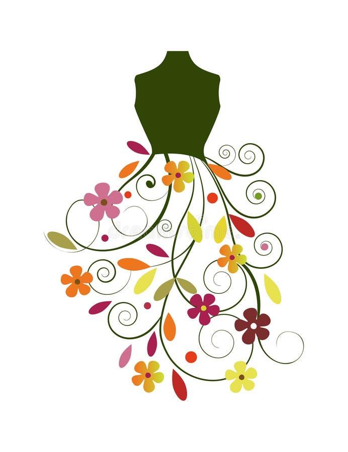 Ícone do vestido da forma ilustração do vetor