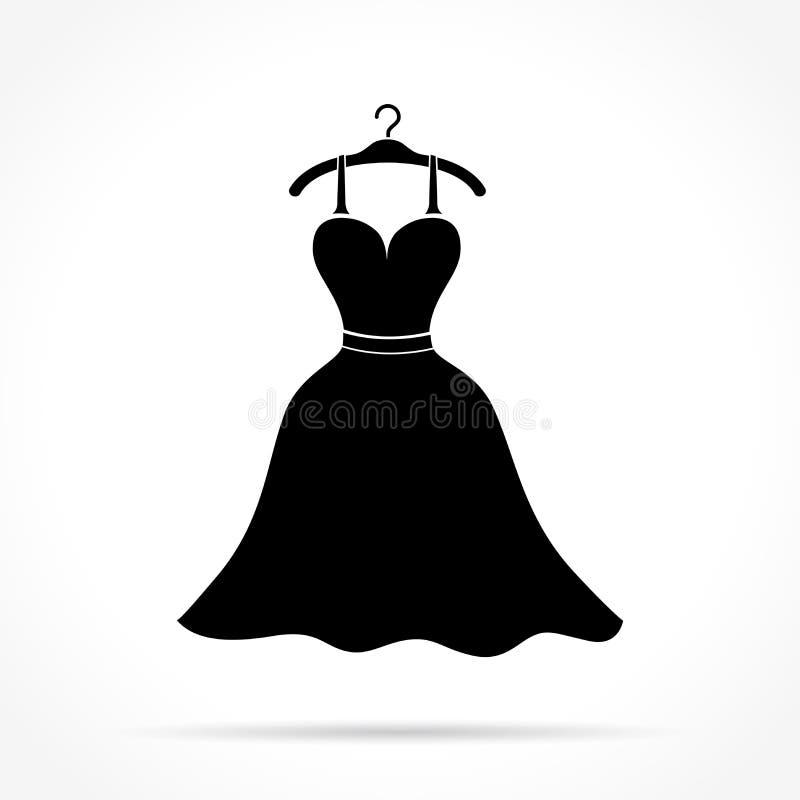 Ícone do vestido de casamento ilustração stock