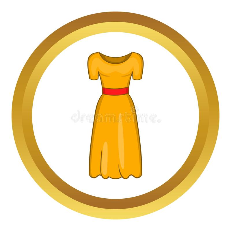 Ícone do vestido de fantasia das mulheres ilustração do vetor