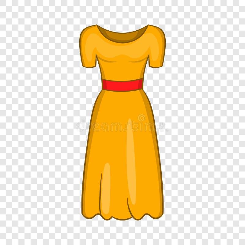 Ícone do vestido de fantasia das mulheres, estilo dos desenhos animados ilustração do vetor