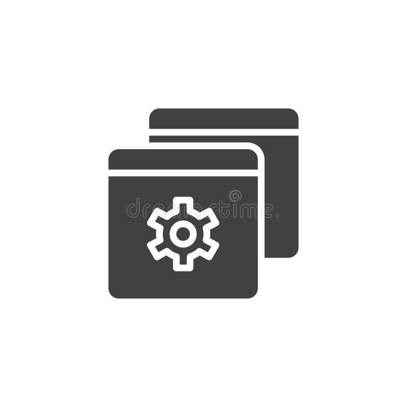 Ícone do vetor do ajuste de navegador ilustração royalty free