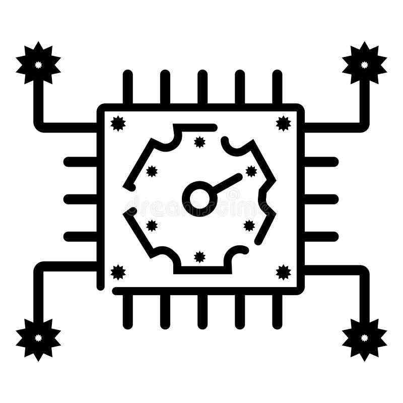 Ícone do vetor do algoritmo ilustração do vetor