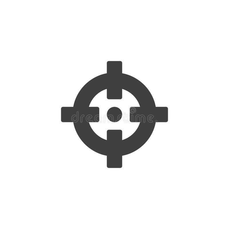 Ícone do vetor do alvo do foco ilustração royalty free