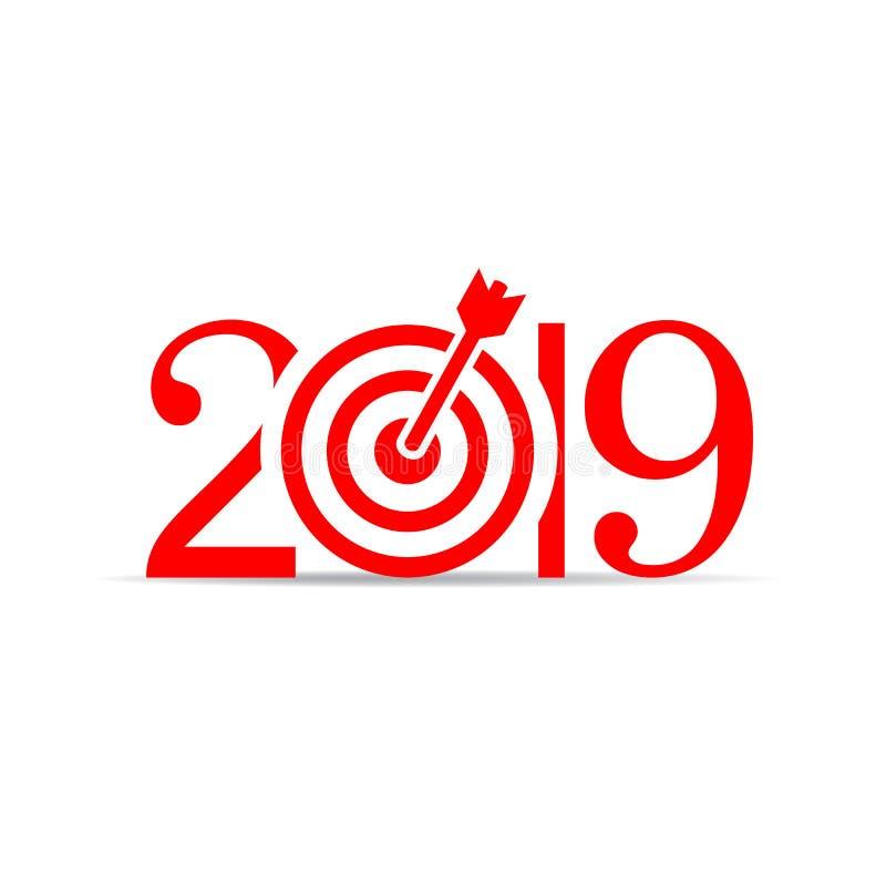 Ícone do vetor do ano 2019 novo ilustração royalty free