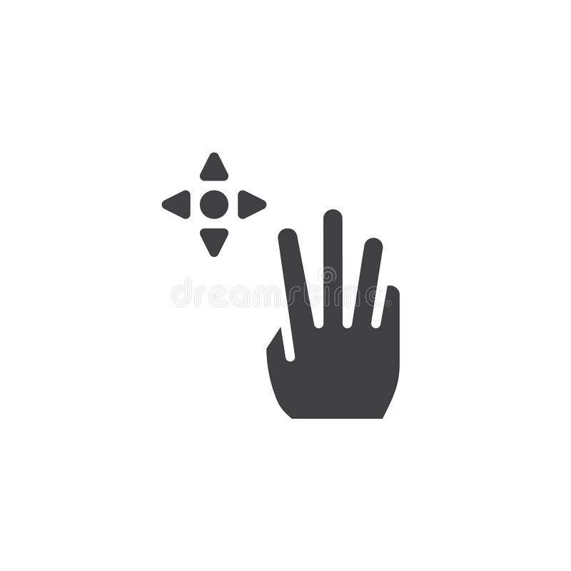 ?cone do vetor do arrasto 3x ilustração do vetor