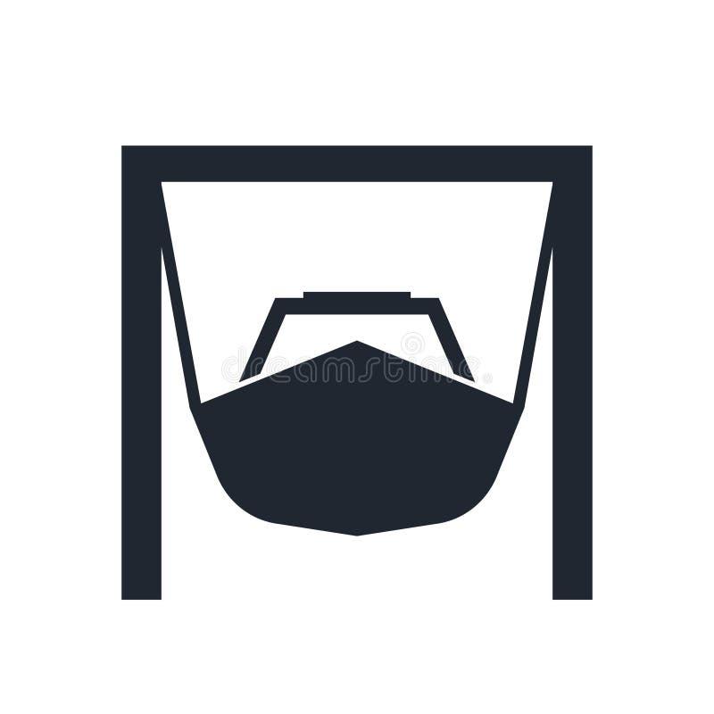 Ícone do vetor do Boatyard ilustração do vetor