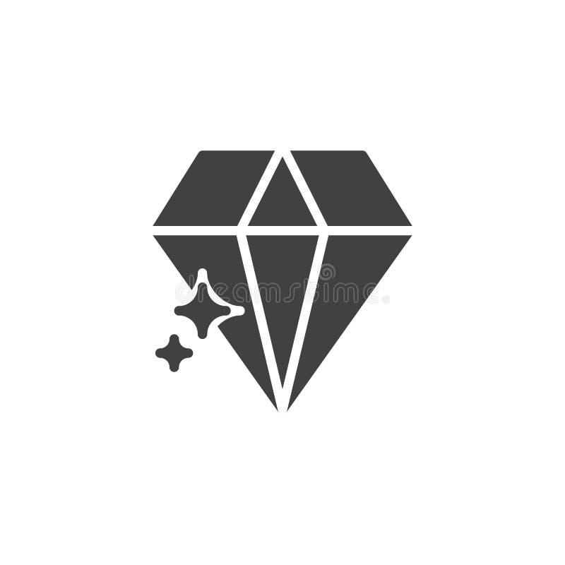 Ícone do vetor do brilho do diamante ilustração do vetor