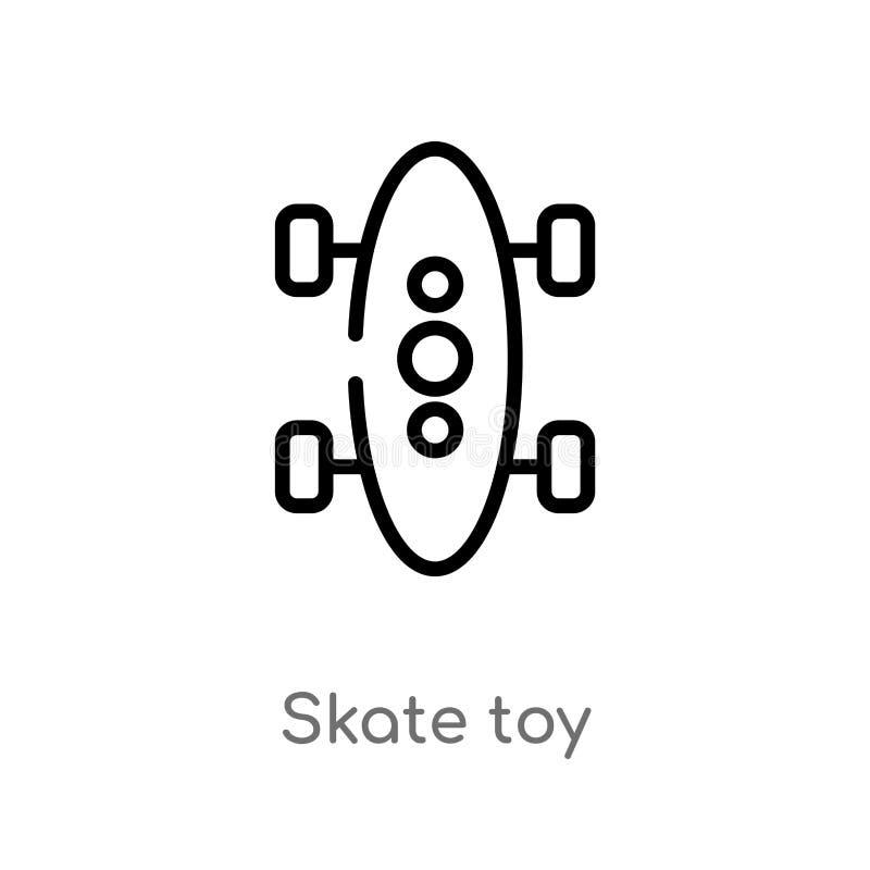 ícone do vetor do brinquedo do patim do esboço linha simples preta isolada ilustra??o do elemento do conceito dos brinquedos brin ilustração do vetor