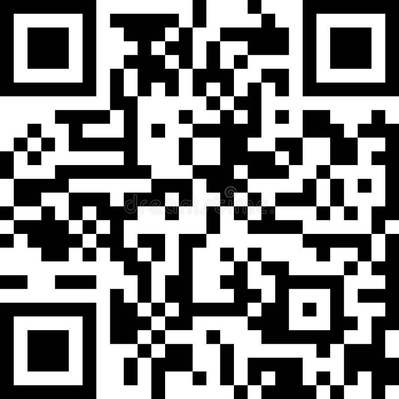 Ícone do vetor do código de QR Telefone Qrcode ilustração royalty free