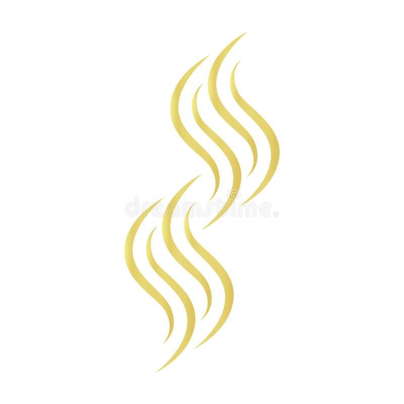 Ícone do vetor do cabelo do ouro em um fundo branco ilustração stock