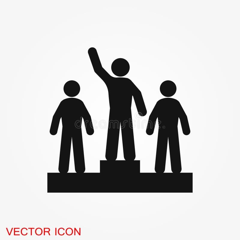 Ícone do vetor do campeão, projeto liso para a Web ou app móvel, símbolo da concessão ilustração do vetor