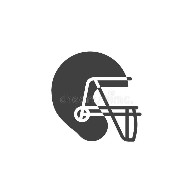 Ícone do vetor do capacete de futebol americano ilustração royalty free