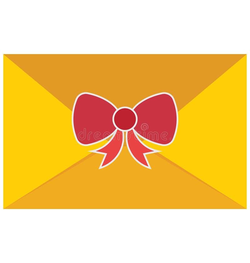 Ícone do vetor do cartão de Natal que pode facilmente ser alterado ou editado ilustração do vetor
