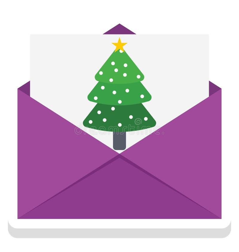 Ícone do vetor do cartão de Natal que pode facilmente ser alterado ou editado ilustração royalty free
