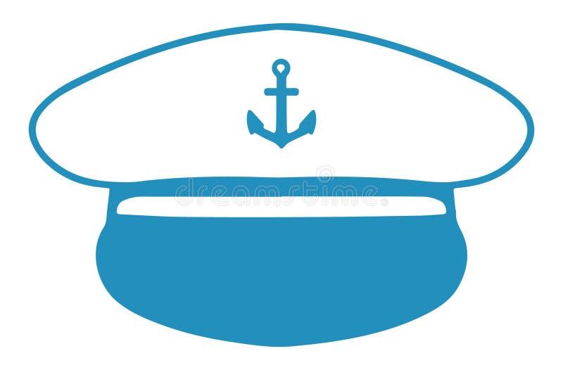 Ícone do vetor do chapéu de um capitão náutico ilustração do vetor