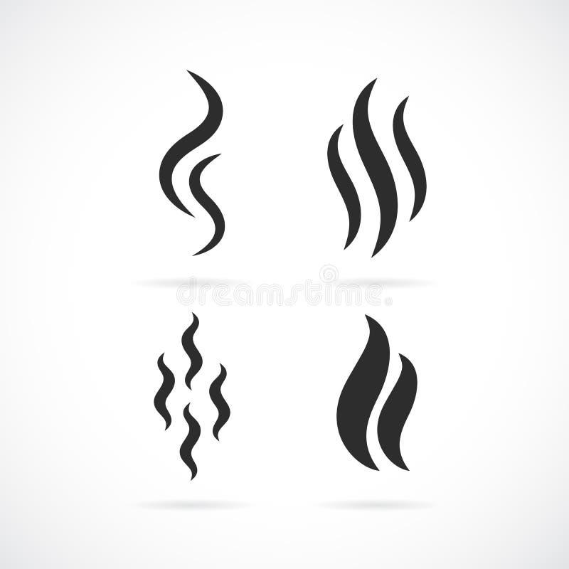 Ícone do vetor do cheiro do aroma ilustração royalty free