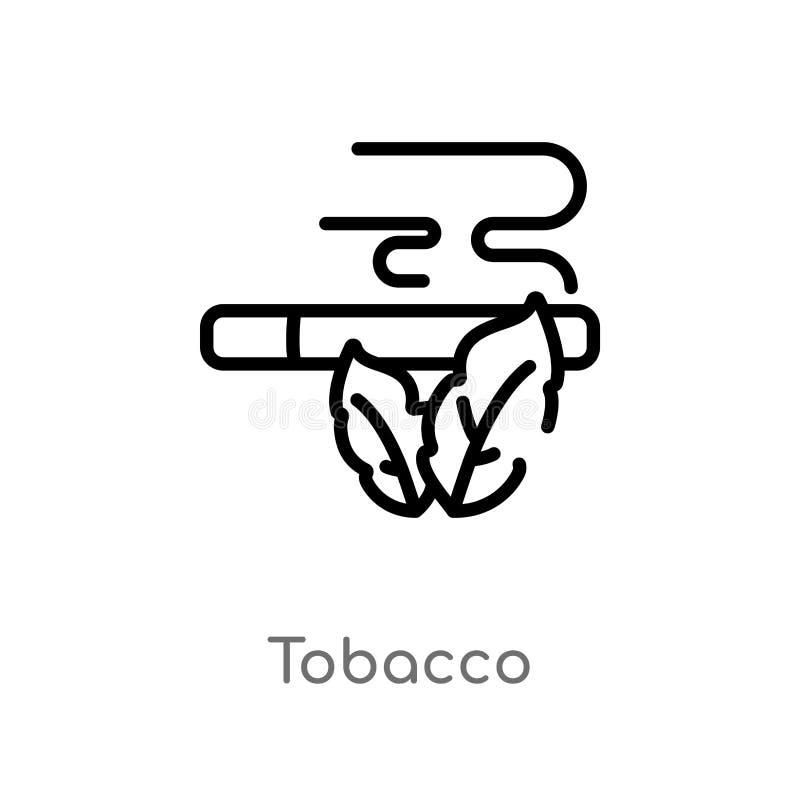 ícone do vetor do cigarro do esboço linha simples preta isolada ilustração do elemento do conceito do deserto cigarro editável do ilustração stock
